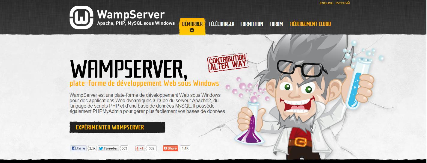 Installation, configuration et premier démarrage de Wamp Server