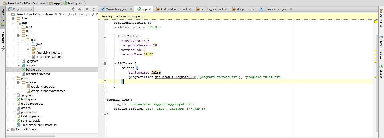 Changer le niveau d'API minimum d'une application Android