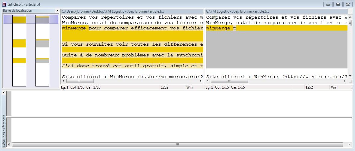 Comparez le contenu de vos fichiers et répertoires avec WinMerge