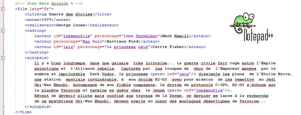 XML Tools pour faciliter l'écriture de code XML sous Notepad++