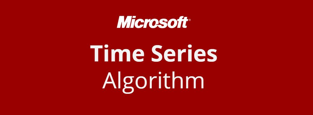 A propos de l'algorithme Microsoft Time Series…