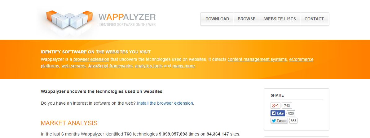 Connaitre les technologies et frameworks utilisés par un site web