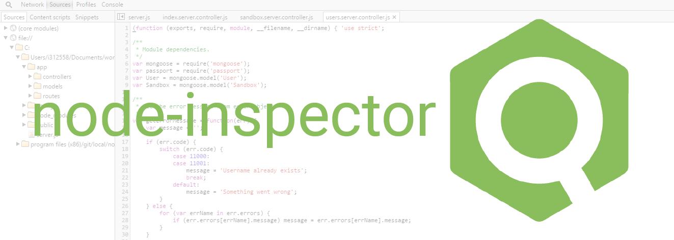 Debugger Node.js avec node-inspector (Chrome Dev Tools)